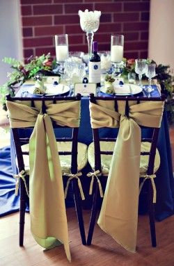 Inspired By The Hamptons Blue Wedding Decorations Royal Blue