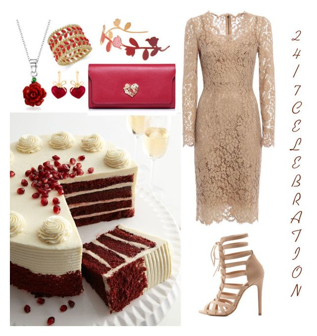 """""""Birthday Celebration With Cake"""" by fashionmadness13 on Polyvore featuring Dolce&Gabbana, Charlotte Russe, Thalia Sodi, Bling Jewelry, KDIA and Marni"""