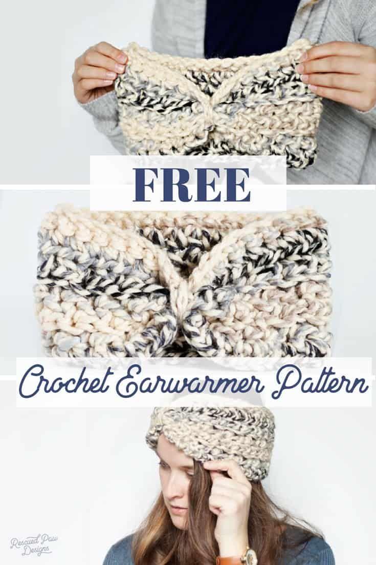 Free Moonlight Ear Warmer Crochet Pattern & Tutorial.   Ganchillo