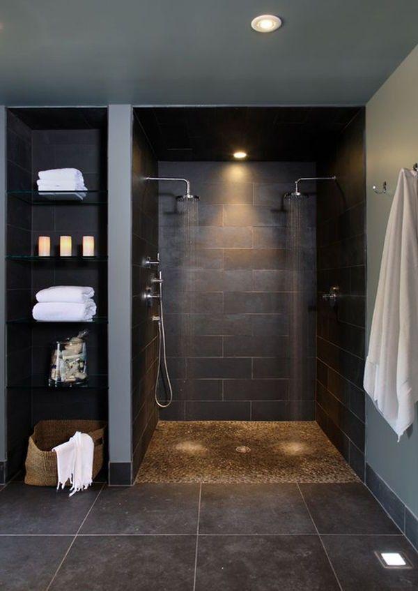 Belysning Tak Gulv For Morke Farger Dunkle Badezimmer Luxusbadezimmer Kleines Badezimmer Umgestalten