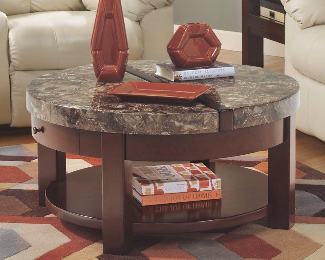Ashley furniture signature design kraleene round lift top