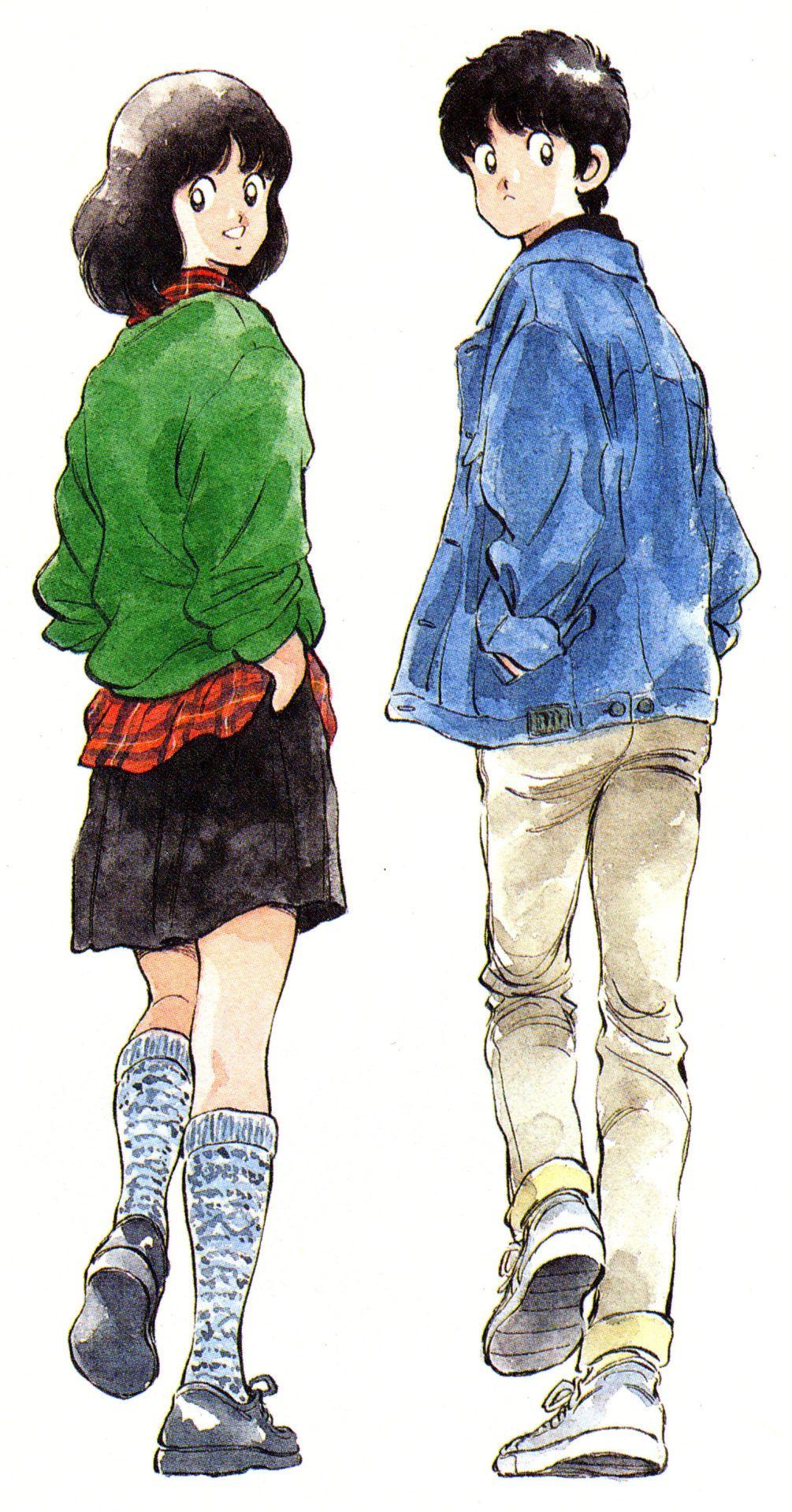 Anime Past — Touch (1981) 일러스트레이션, 일본만화, 캐릭터 일러스트