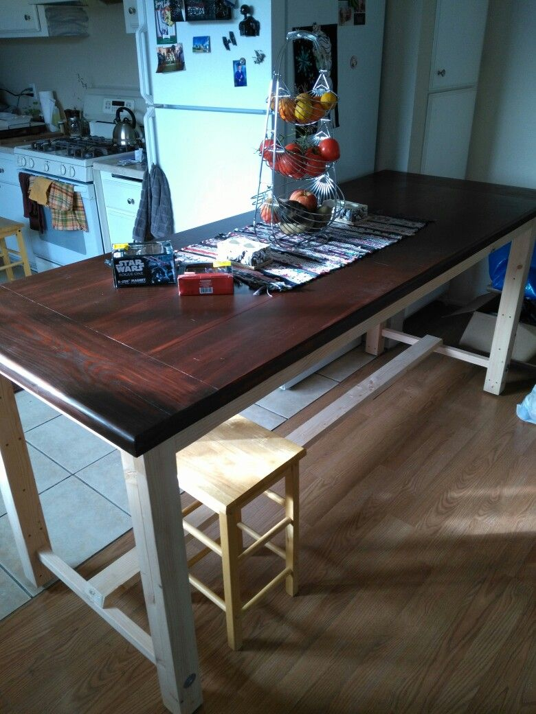 Farmhouse Style Dining Table Top Is Laminated 2X10S Ripped To 8 Prepossessing Laminate Dining Room Tables Design Ideas