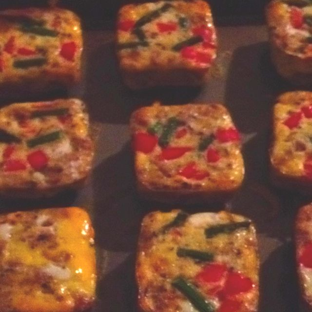 Mini Vegetable Omelette S Made In Pampered Chef S Brownie Pan