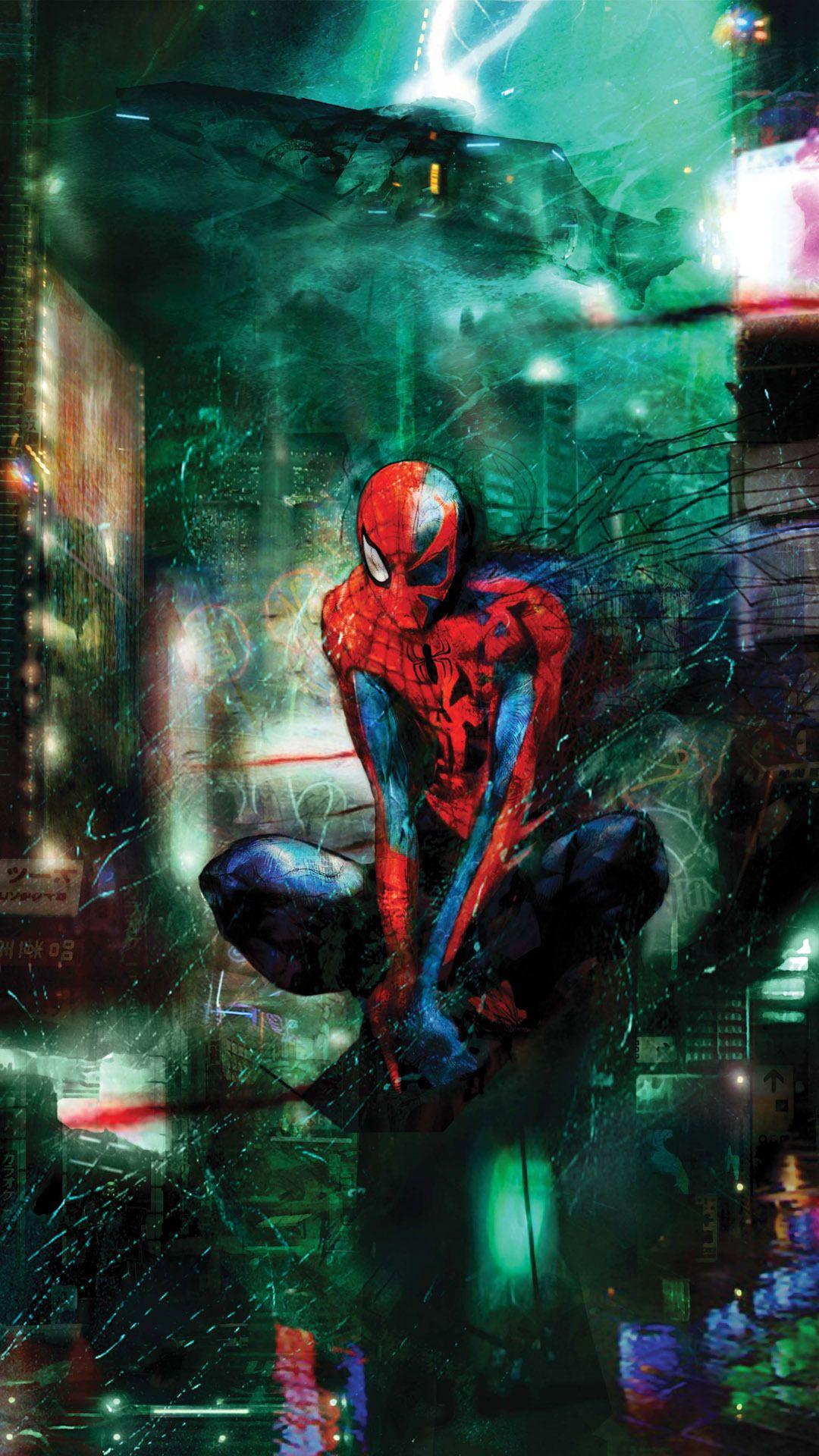 スパイダーマン Iphonex スマホ壁紙 待受画像ギャラリー マーベルのアート コミックブック マーベルヒーロー