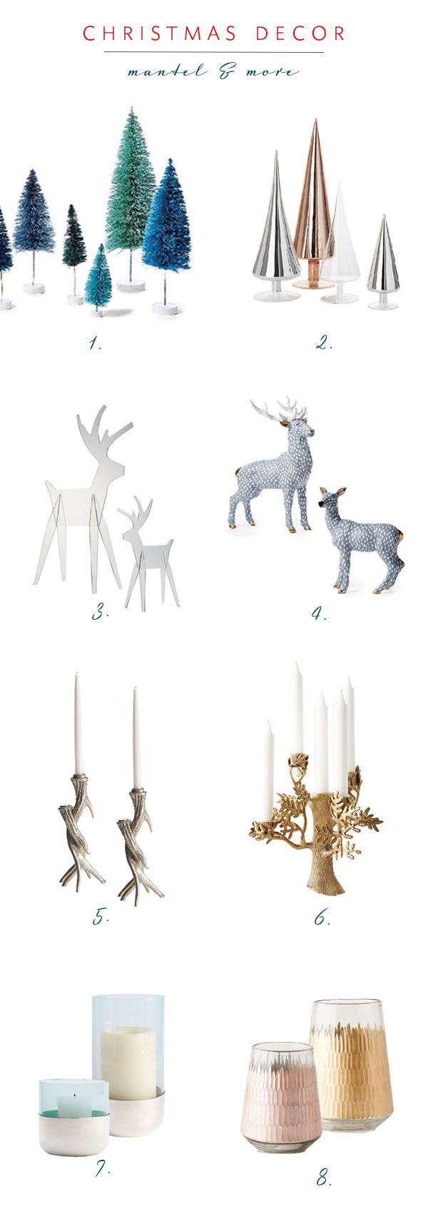 christmas decor roundup on coco kelley | for the mantel!