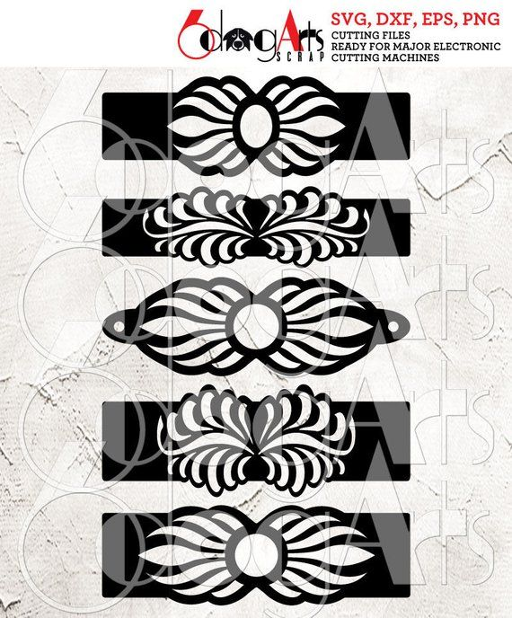 Photo of 5 Floral Cuff Bracelet Leather Jewelry Templates Vector Digital SVG DXF Cut Files Cuttable Download Laser Cutting Cricut Maker JB-1045