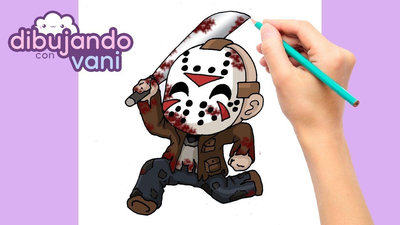 Como Dibujar A Jason De Viernes 13 Kawaii How To Draw Jason Voorhees F Kawaii Viernes 13 Dibujos Kawaii