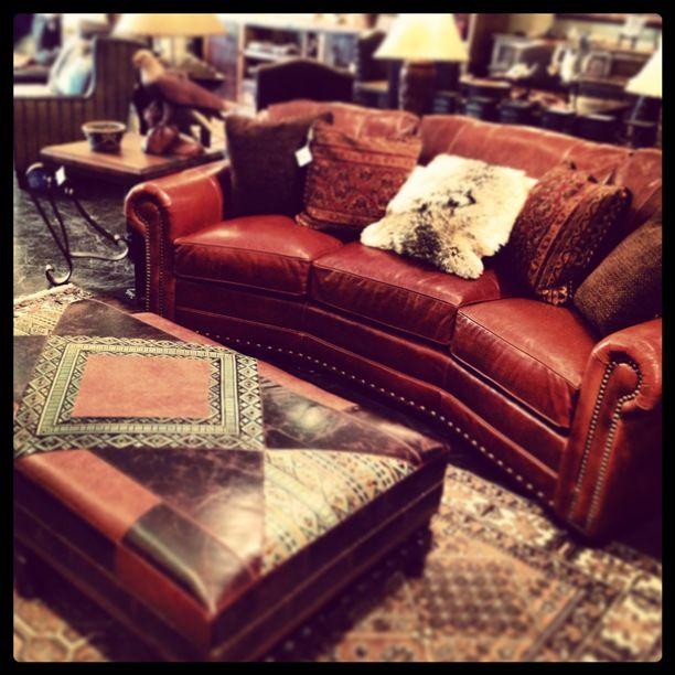 Rustic Leather Sofa | For the Home | Leather sofa, Conversation sofa ...