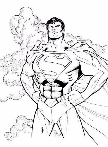 dibujos para colorear de superman onine  Super Heroes DC ...