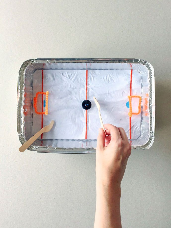Diy Tabletop Ice Hockey Rink Olympic Games For Kids Winter