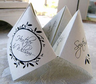 Wedding game place card paper DIY Green Weddings Pinterest