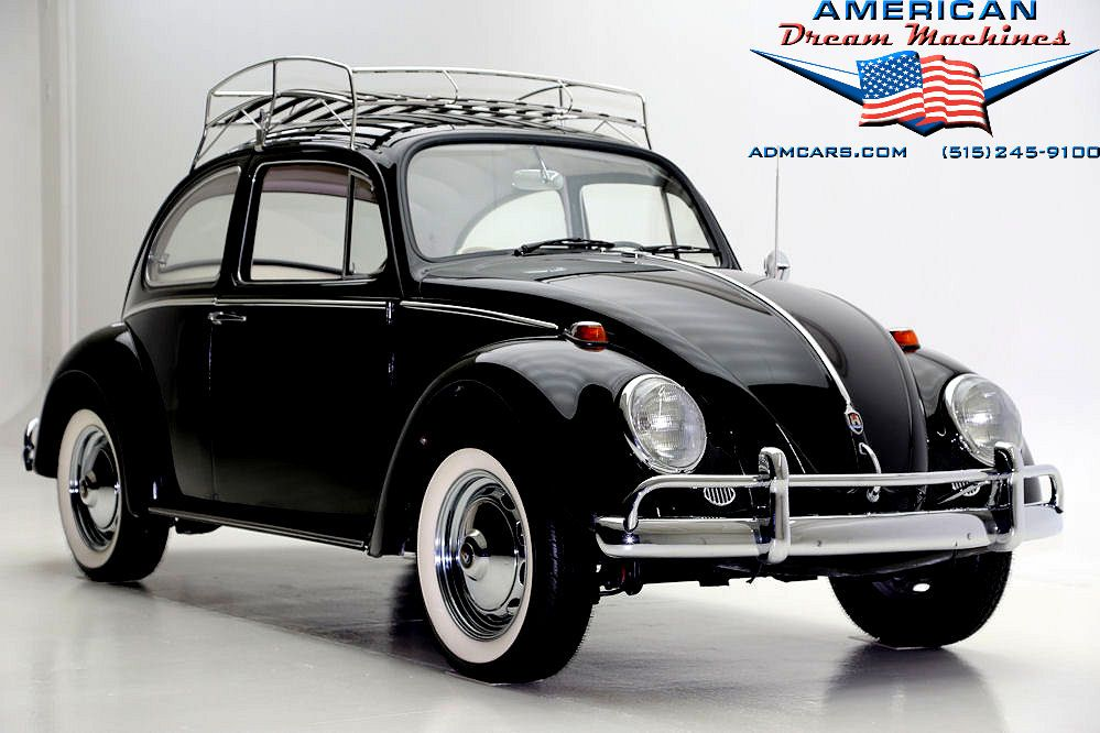 1966 Vw Beetle With Curved Roof Rack Auto Maggiolino