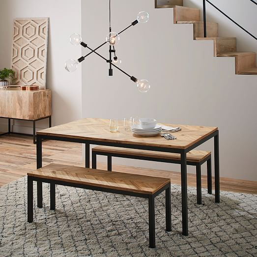 Box Frame Chevron Dining Table  Room Furniture Ideas And Apartments Captivating Picture Frames For Dining Room Design Inspiration