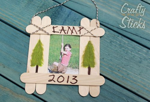 Popsicle Stick Picture Frame And Summer Camp Craft Ideas