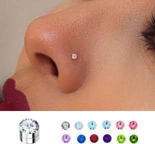 Fake Industrial Bar Earrings Piercings Fake Nose Nose Piercing