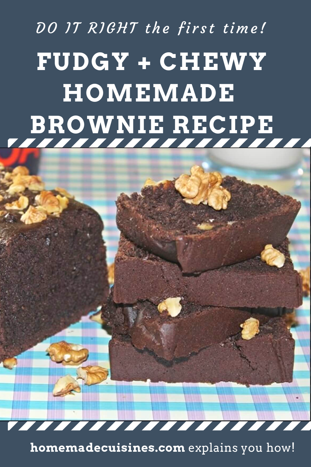 Chewy No Eggs Homemade Brownie Recipe Eggless Brownie Recipe Cocoa Powder Recipes Brownie Recipes