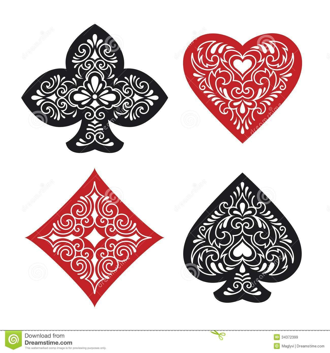 Illustration about Vector illustration of four ornate card