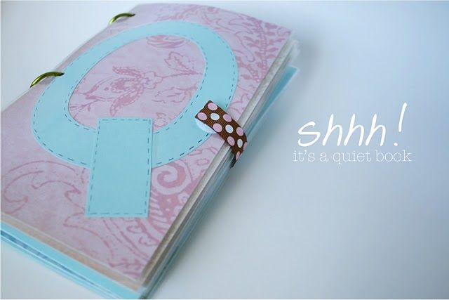 quiet book - love this, a non-sewn quiet book!