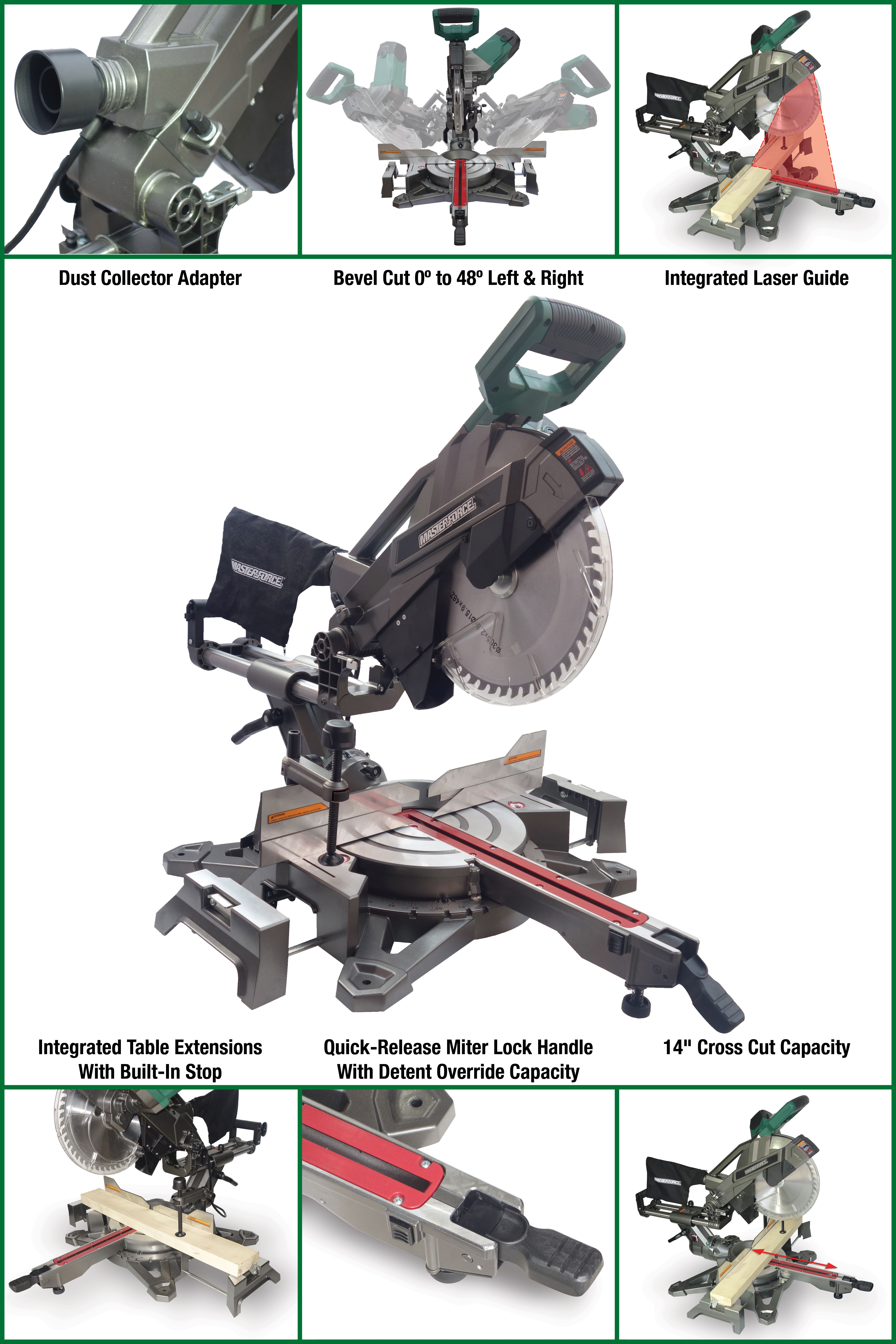 "Best Sliding Compound Miter Saw 2020 With the Masterforce® 12"" Dual Bevel Sliding Compound Miter Saw"
