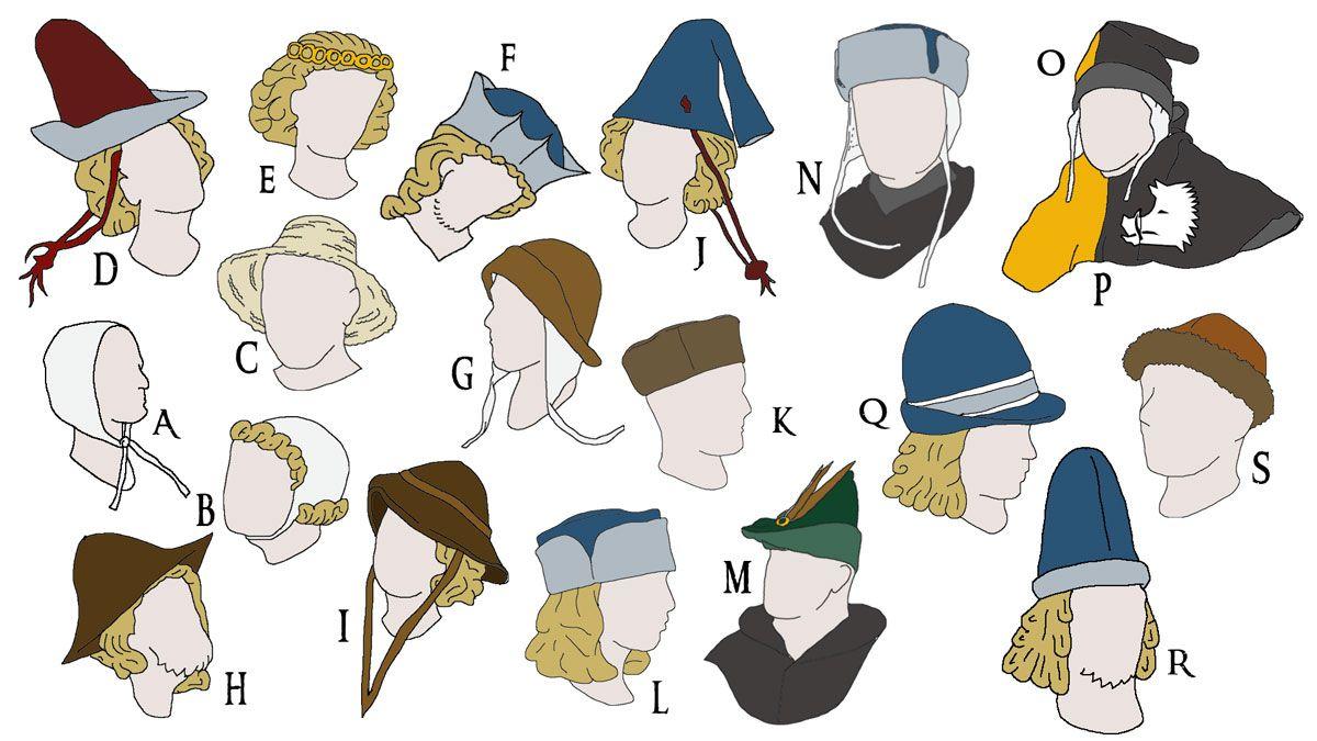 USA billig verkaufen erstklassig Details für Kopfbeckungen im Hochmittelalter | Swashbuckler.Style ...