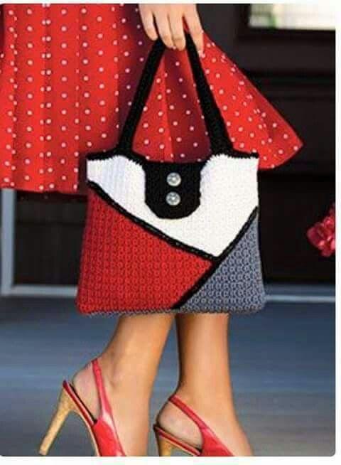 Pin de Dina Cooper en Crochet Bag Patterns | Pinterest | Bolsos en ...