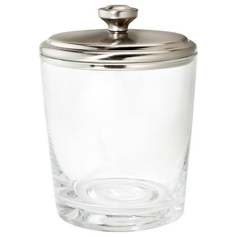 clear ideas canister bathroom org glass solarcollege accessories