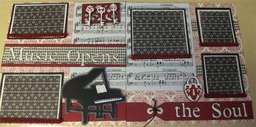 Music Opens the Soul 2 page Cricut layout - Cricut Classes/Paper Crafts (Las Vegas, NV) - Meetup