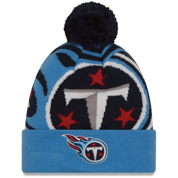 14eff63a1cf ... cheap tennessee titans new era youth logo whiz 2 cuffed knit hat with  pom navy light