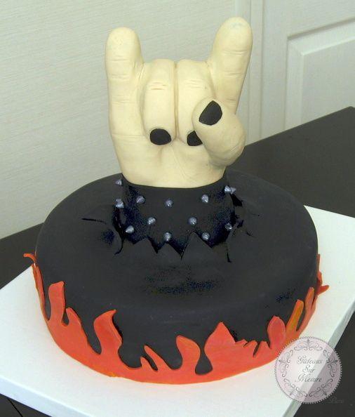 rock et metal (from gateaux sur mesure paris - cake design