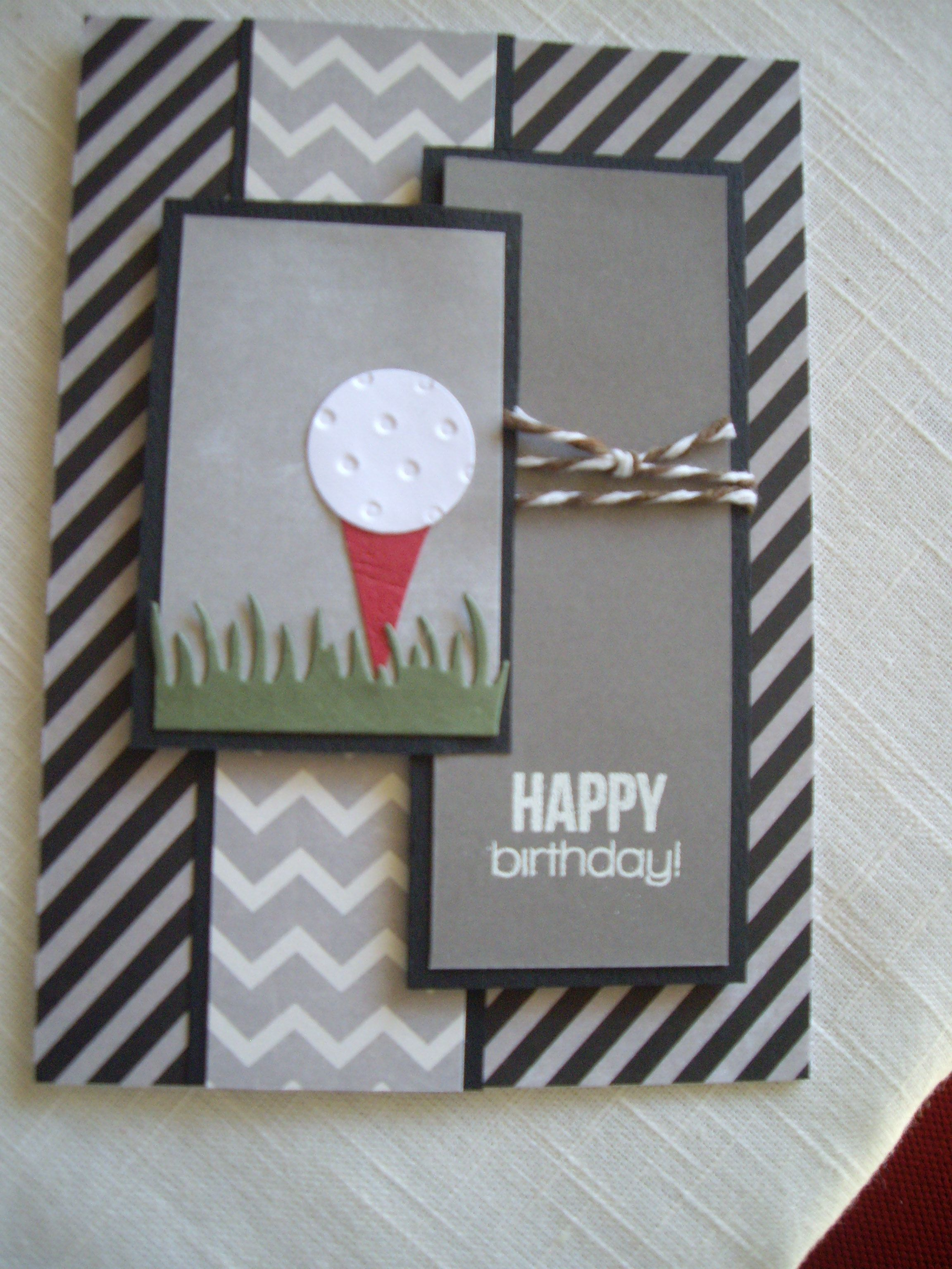 Masculine Card For Golfer Cards Handmade Homemade Birthday Cards Themed Cards