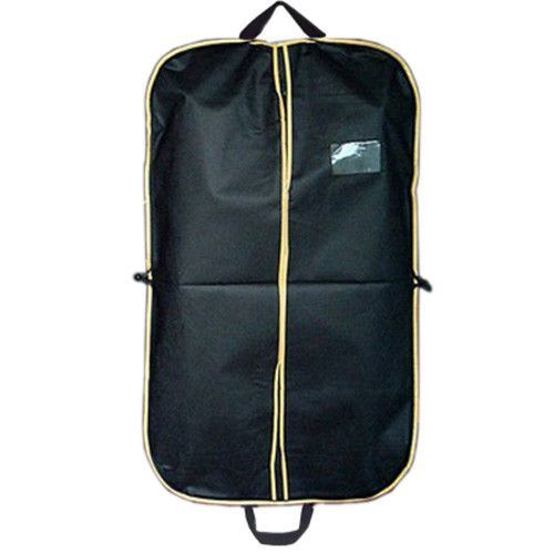 Black Suit Dress Coat Shirt Garment Clothes Storage Bag Travel Carrier Cover Dustproof Hanger Protector