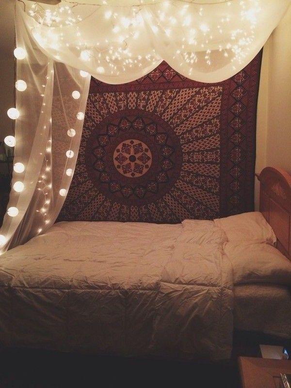 tumblr rooms fairy lights - Google Search | My room reno ...