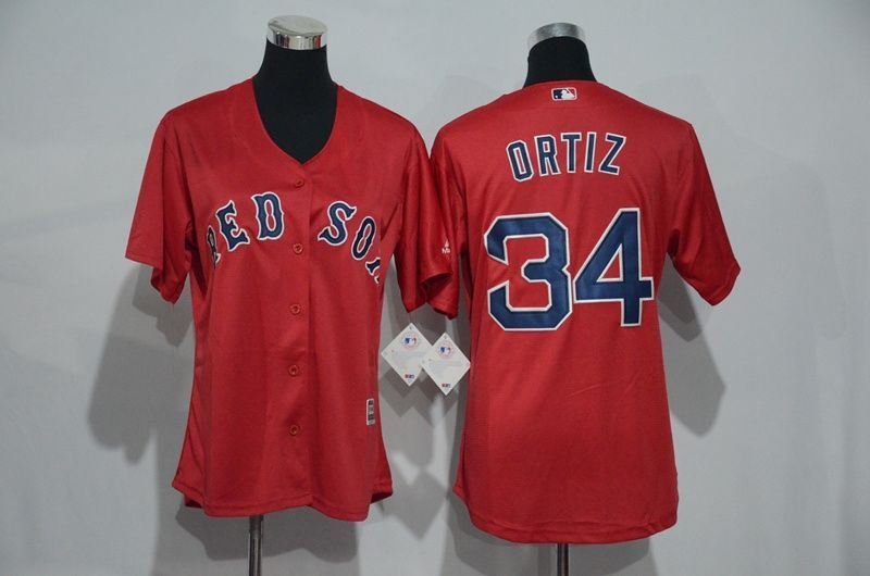 Womens 2017 MLB Boston Red Sox 34 Ortiz Red Jerseys 16c0562b25f