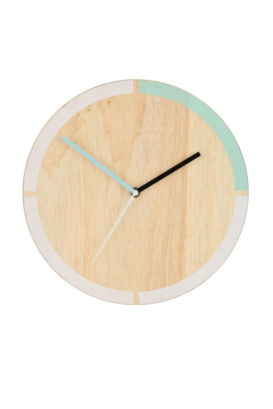 You\'ll love watching the time go by with this sleek wooden clock ...