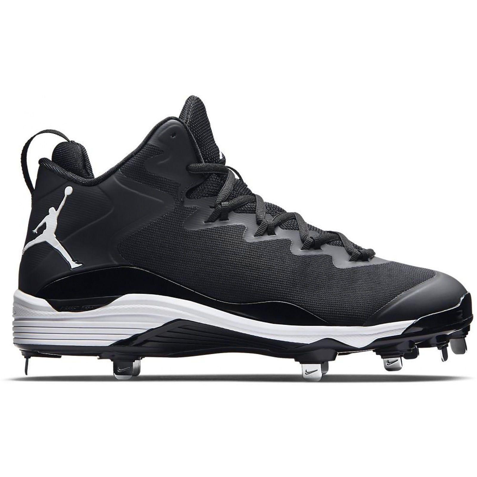 New Nike Air JORDAN Super.Fly 3 Metal Mens Baseball Cleats   Black   Size 13 5f8f24930b7