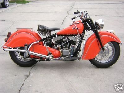 1948 Indian Chief Red Pictures Indian Chief Indian Motorcycle Indian Motors