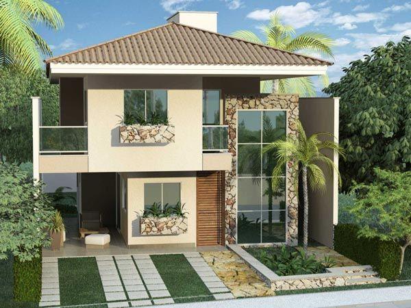 Fachada casa duplex casa moderna pinterest casa for Casas duplex modernas