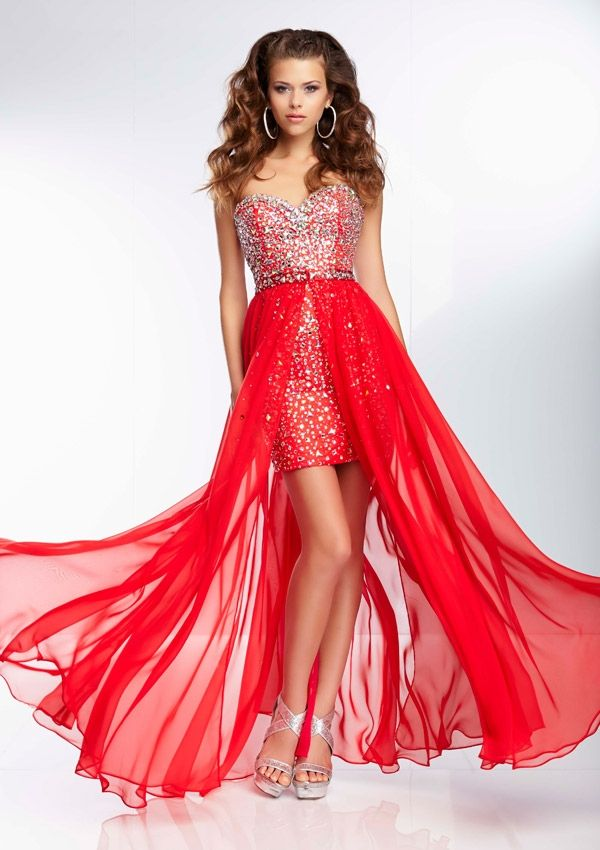 Jewel Beaded Mini Prom Dress with Removable Beaded Chiffon Fly Away ...