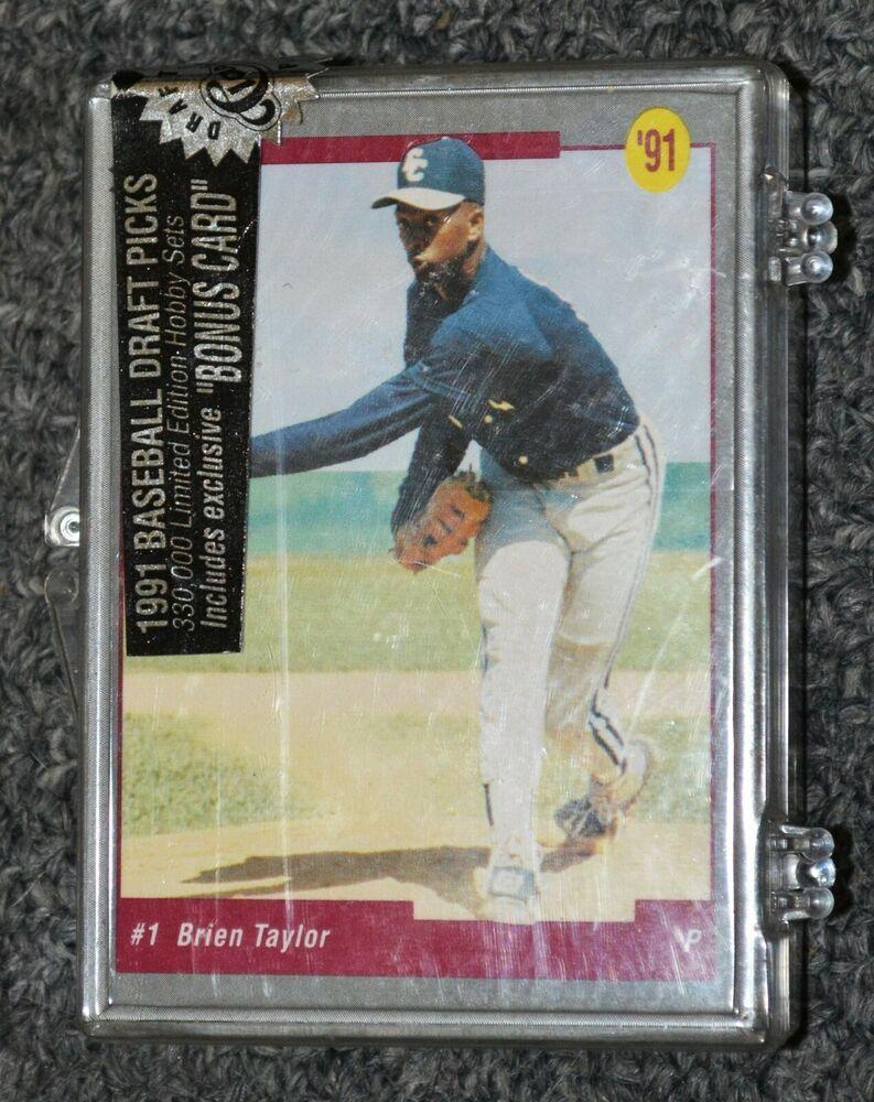 1991 classic draft picks baseball complete box set factory