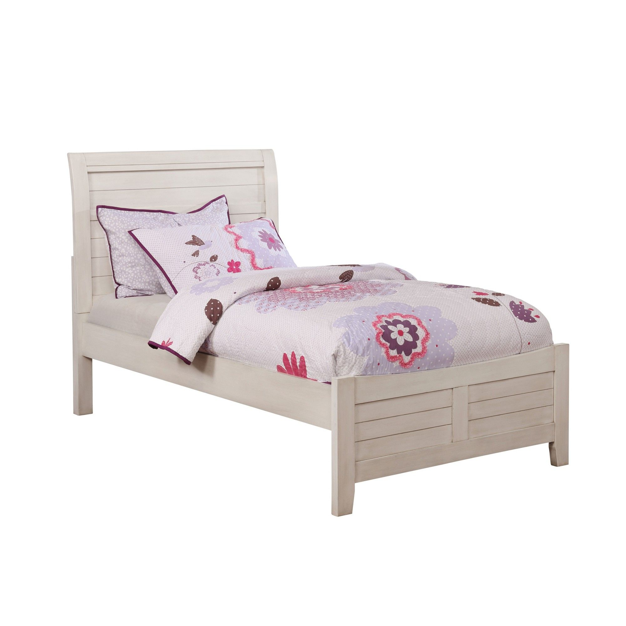 Ford Kids Wood Bed Antique White Homes Inside Out Kids Wood Bed