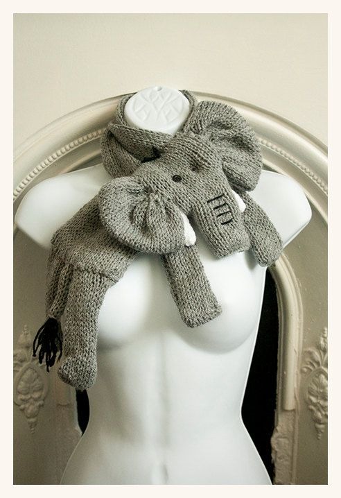 Elephant scarf cowl Roll tide, Scarfs and Etsy