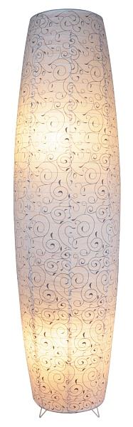 Harmony - papierová lampa - biela so šedým vzorom - 1260mm
