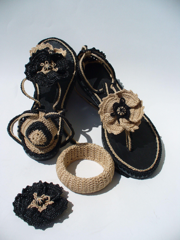 Gothic Poppies crochet sandals   espadrile   Pinterest   Zapatillas ...