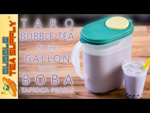 Taro Bubble Tea Recipe With Powder Dandk Organizer