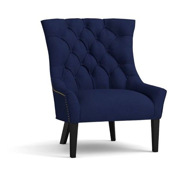 Pottery Barn Hayes Upholstered Tufted Armchair 999 Liked On Polyvore Featuring Home