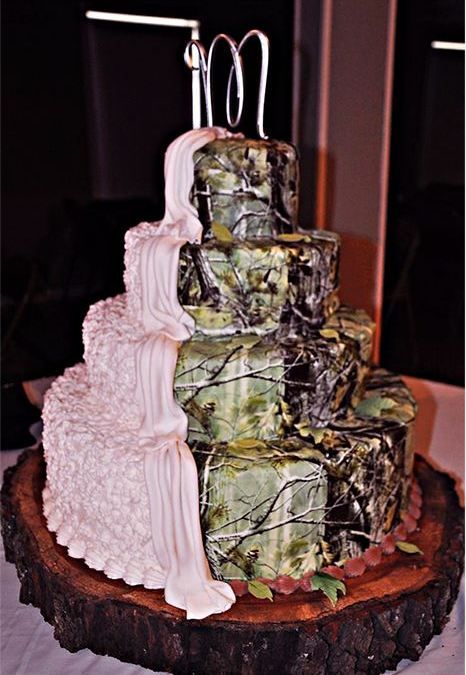 PinkCamoWeddingCakes Camo wedding cakes Pictures and