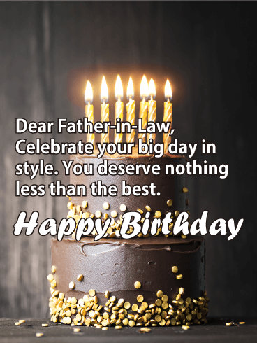 Happy Birthday Card For Father In Law A Whos Got Lots Of Style And Class This Charming Is Sure To Leave Him Smiling
