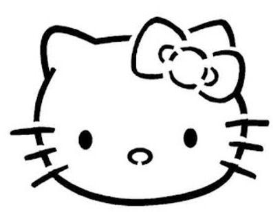 hello kitty pumpkin stencil   Favorite Recipes   Pinterest