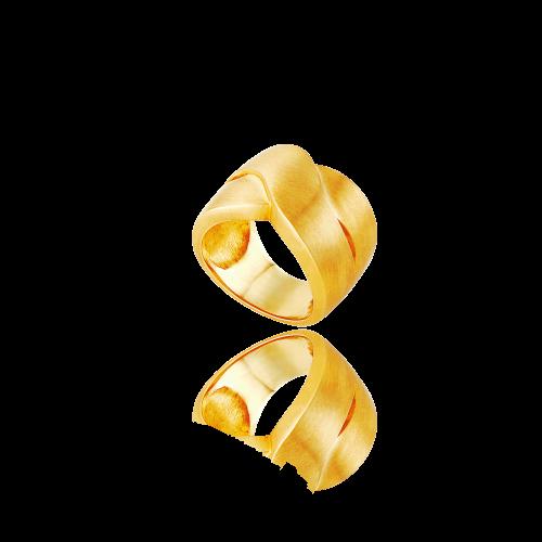 Νew Spirit ring in 18ΚΤ yellow gold